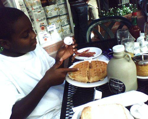 D'Shan & Waffles.JPG